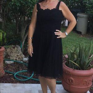 •Black Adrianna Evening Dress•